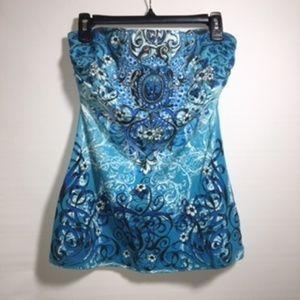 FANG strapless bra shelf rousing Turquoise Large